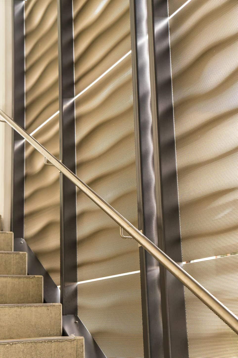 3D Blech Absturzsicherung Treppe