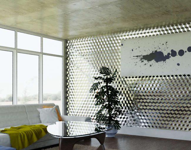 Cubes 3D wall cladding
