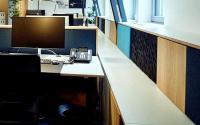 Wandverkleidungen für moderne Büroarbeitswelten