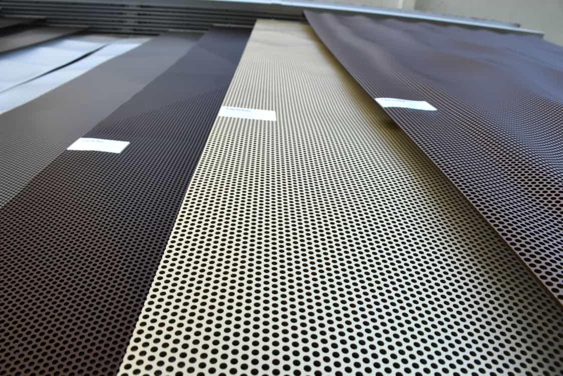 3D metal sheet exhibition