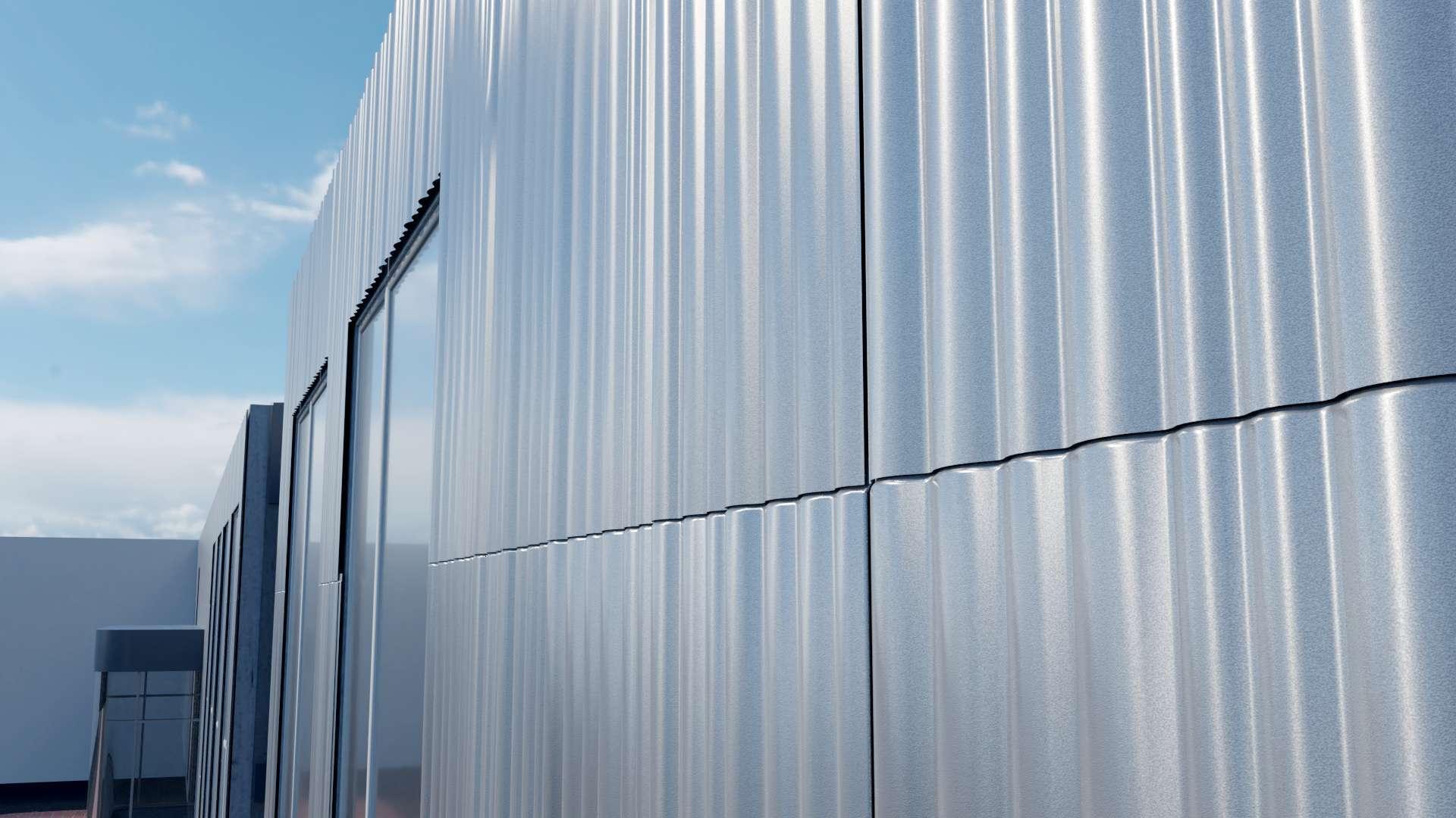 Industriegebäude Designfassade