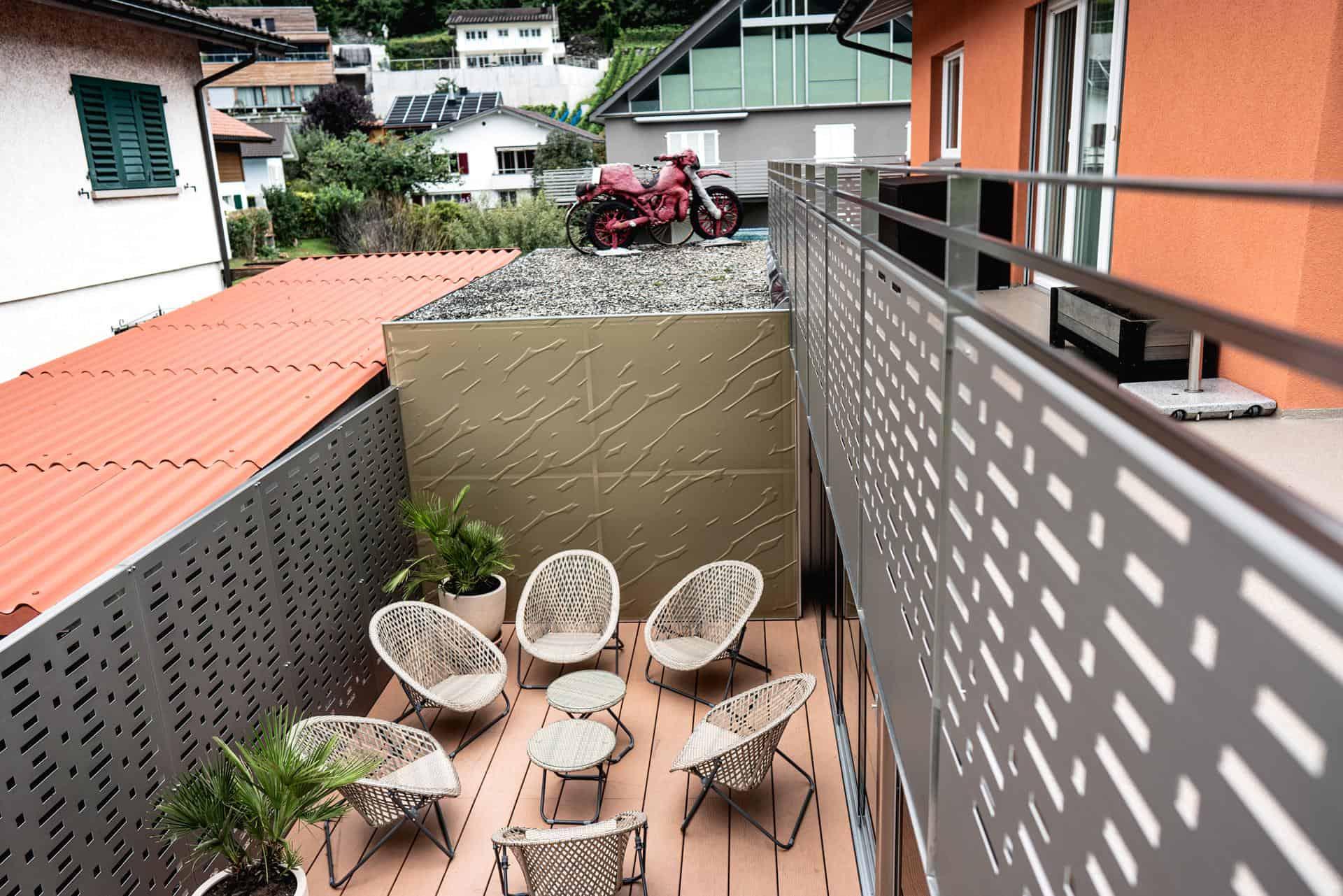 Terrassen Verkleidung Metall