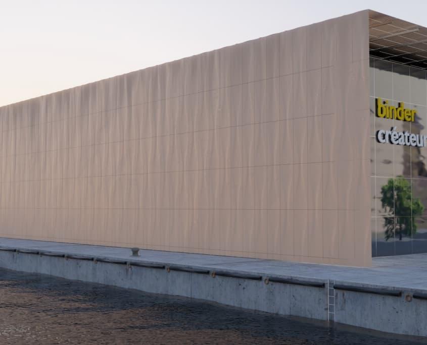 Binder PM 3D facade visualisation Blender