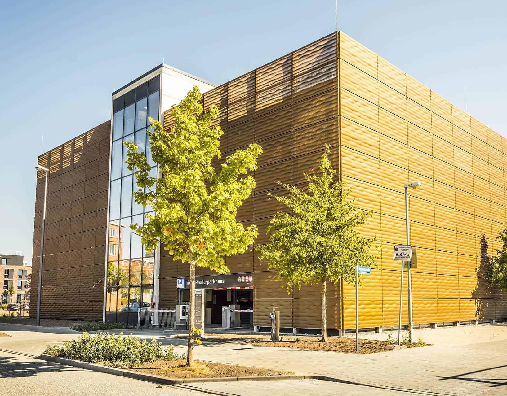 Binder PM 3D Metallfassade Parkhaus ARC Kiel