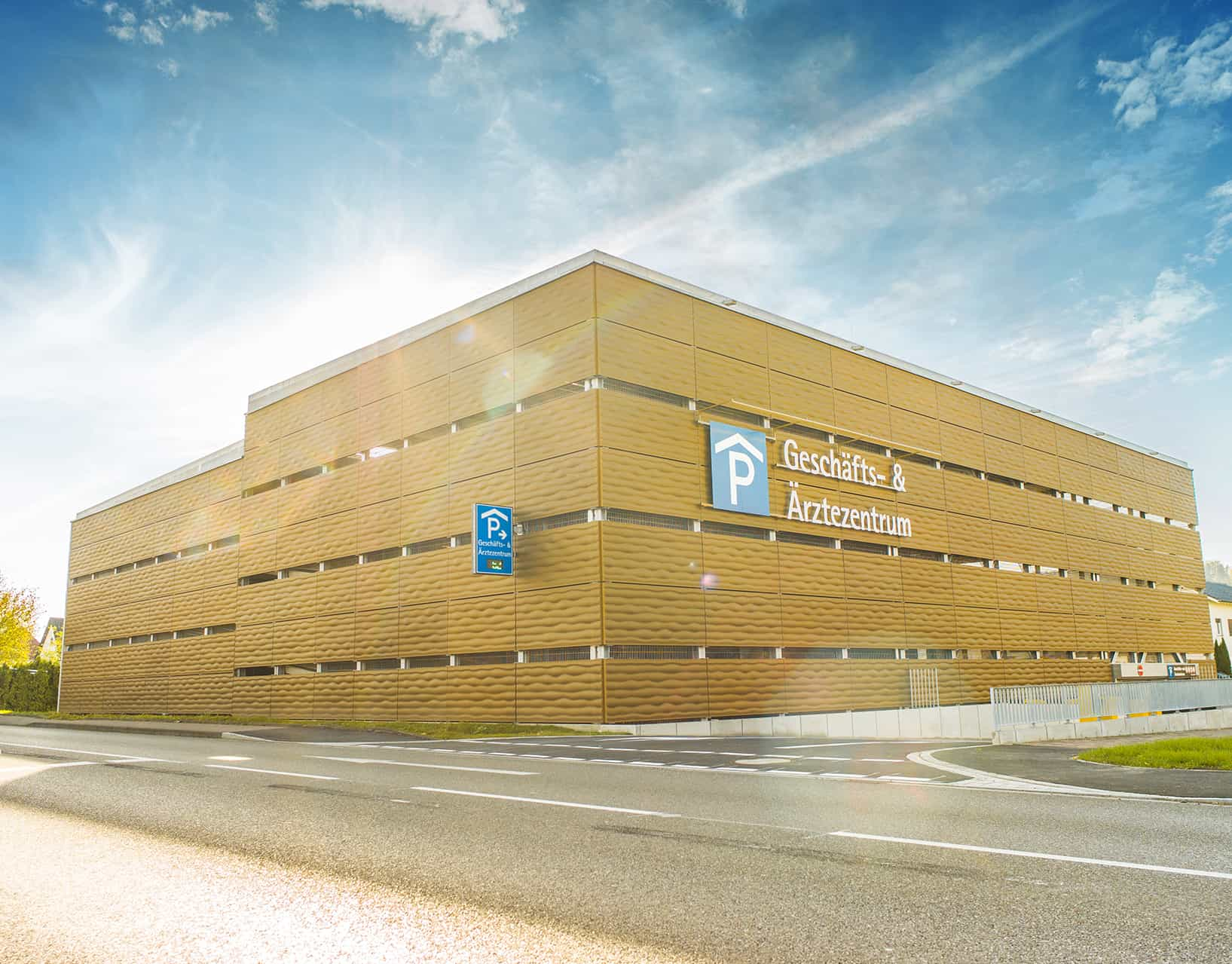 Binder PM 3D metal facade car park Lauchringen