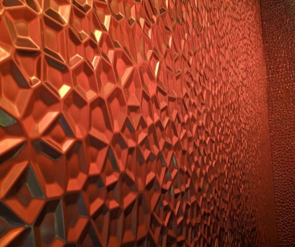 3D Polygon Metall Fassade Audi Shanghai